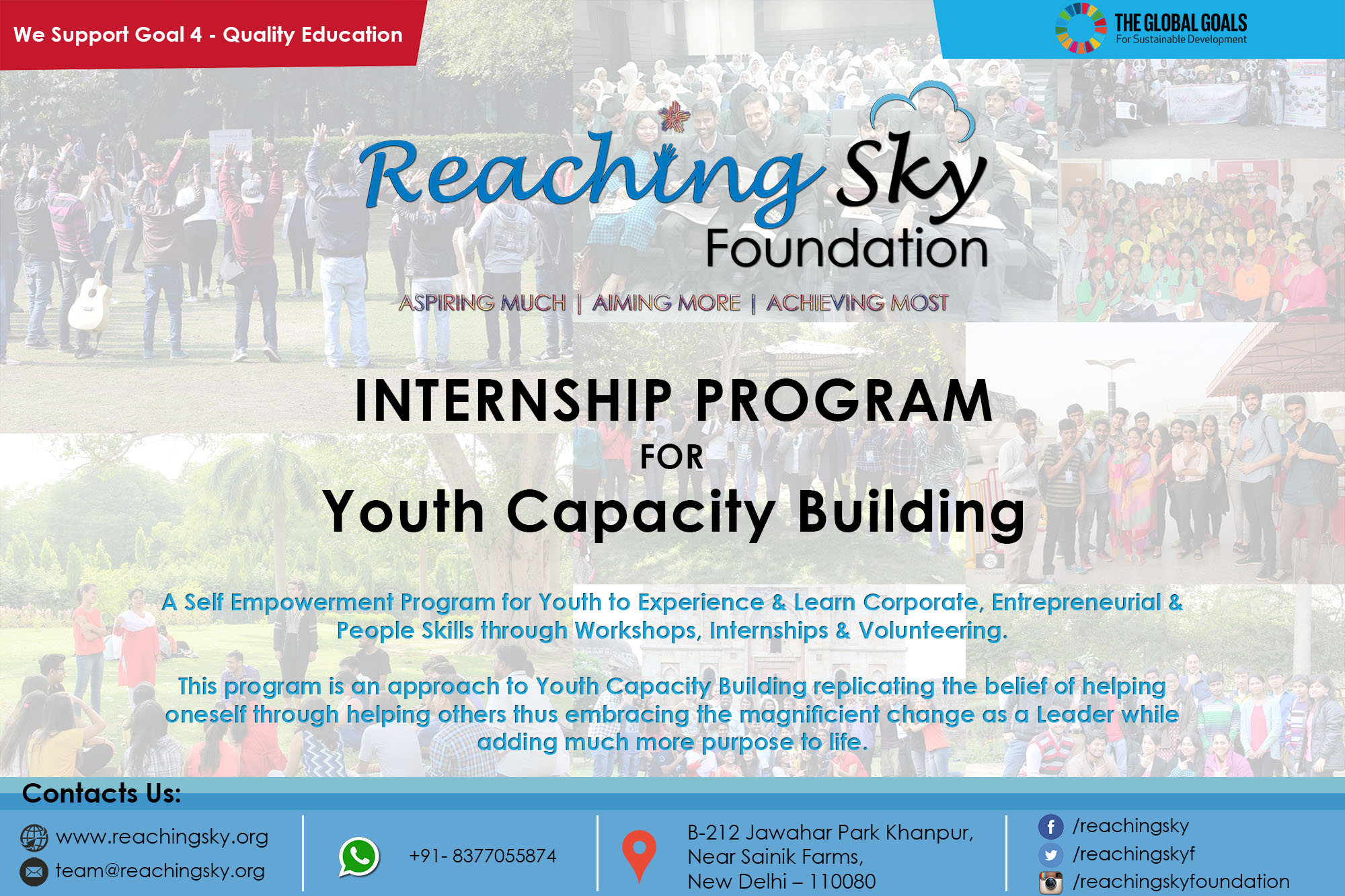 Internship Program for Youth Capacity Building